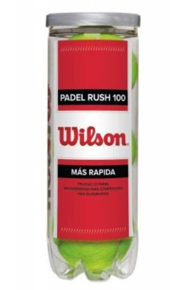 Wilson Pelotas de Padel RUSH 100 x3