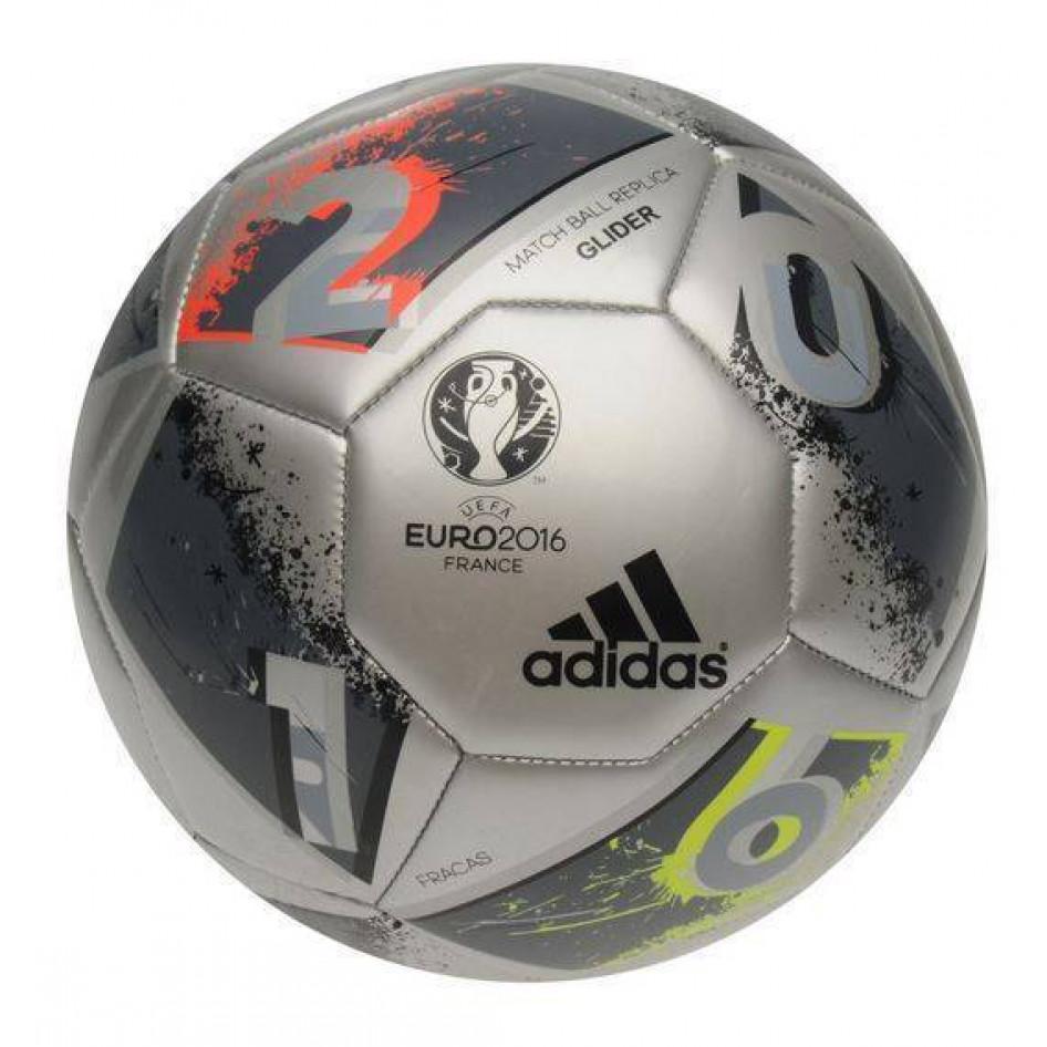 f3652d72227f1 adidas UEFA EURO 2016 TOP Glider Replica Fútbol Gris Tienda Deportes