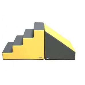 Set Figuras Número 2 (Escalera y RAMPA) - 60 cm Amarillo/Gris