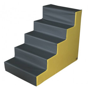 Figura Escalera Grande 100X80X60 cm Amarillo/Gris
