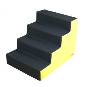 Figura Escalera Mediana 80X60X60 cm Amarillo/Gris