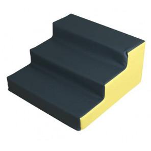 Figura Escalera Pequeña 60X60X30 cm Amarillo/Gris