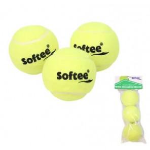 Bolsa 3 Pelotas de Tenis Softee Iniciacion DELUXE