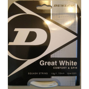 Cordaje Squash Dunlop great White 10 m 1.18 mm Blanco
