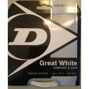 Cordaje Squash Dunlop Great White 10 m 1.18mm Blanco