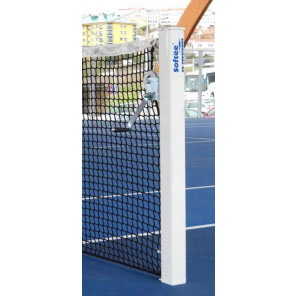 Juego POSTES Tenis FIJOS ALUMINIO CUADRADOS 80x80mm