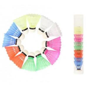 Volantes Badminton Plástico Pack 12