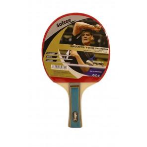 Pala Tenis Mesa Softee P050 Rojo Negro