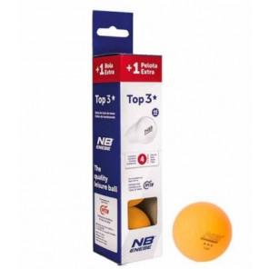 Pelotas Tenis Mesa Enebe TOP 3* 40 mm 4 bolas