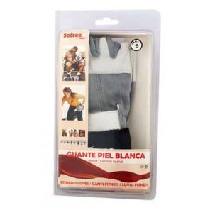 Guantes Fitness Unisex Piel Blanca