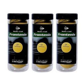 Pelotas de FronTenis Dunlop Pack 3x3 bolas