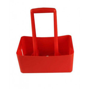 Porta botellas ABS Rojo 6 Bidones