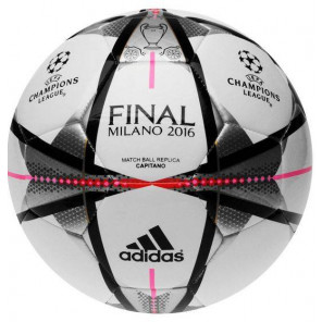 Balon Futbol Adidas Finale Milano Capitano Champions  Blanco/Gris 5