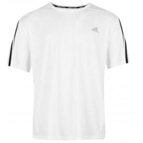 Camiseta adidas Questar Hombre Running T Shirt Blanco Talla XL
