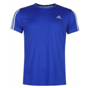 Camiseta adidas Questar Hombre Running T Shirt Azul Talla M