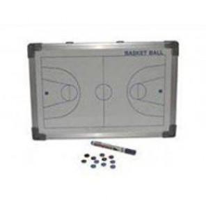 Pizarra Magnética Borde Aluminio Baloncesto Blanco 30x20