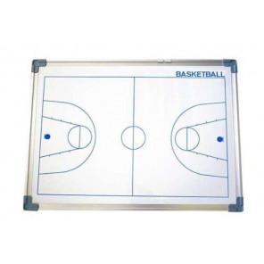 Pizarra Magnética Borde Aluminio Baloncesto Blanco 45x60