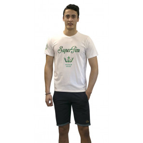 Camiseta Superjim S Verde NUX Hombre Blanco/Verde M