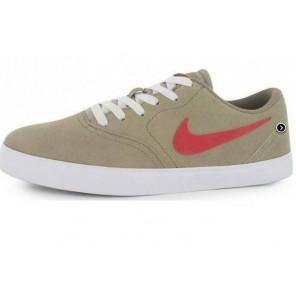 Zapatillas Nike SB CHECK Sportwear Kaki / Rojo Hombre-41