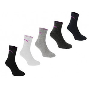 Calcetines Slazenger 5 Pares Junior-33/39 colores