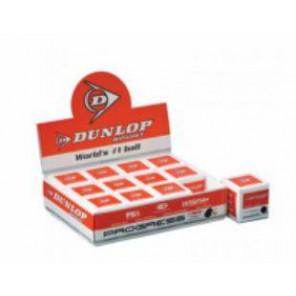 Bolas Squash Dunlop PROGRESS Punto Rojo x12