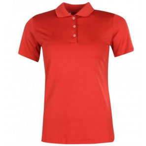 Ladies Polo Shirt adidas Mujer Rojo Talla L