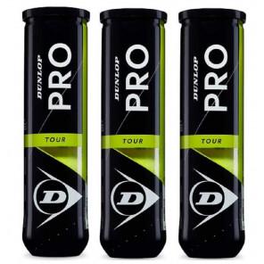 Pelotas Tenis Dunlop PRO TOUR Pack 12 (3x4)