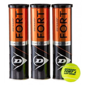 Pelotas Tenis Dunlop FORT CLAY COURT 3x4