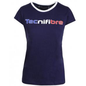 Camiseta Tecnifibre Mujer TEE COTTON Marino