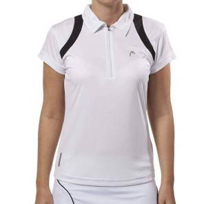 Head Tenis Polo Mujer Blanco XS