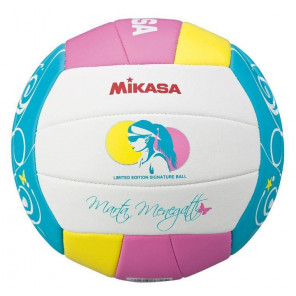 Mikasa VMT5 Balon Voleibol Playa Rosa Blanco Azul