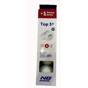 Pelotas Tenis Mesa Enebe TOP 1* 4 bolas Blancas