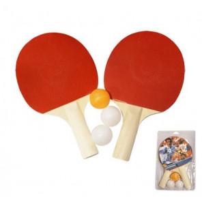 Juego Pala AND TREND Tenis Mesa con 3 pelotas