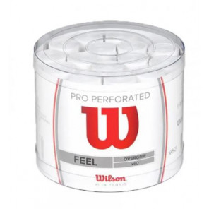Overgrips Perforados Wilson Blanco Bote 60 unidades