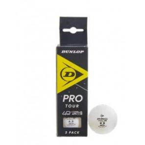 Pelotas Tenis Mesa Dunlop Pro Tour 3 bolas Blancas