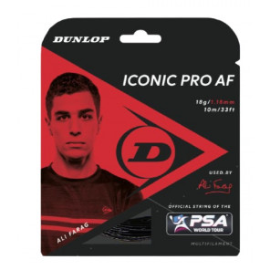 Cordaje Squash Dunlop Iconic Pro AF Negro 1.18 mm