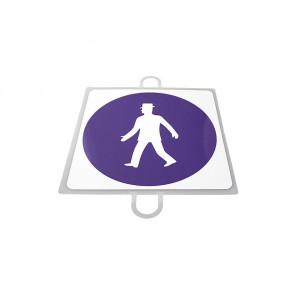 AND TREND Panel de señalizacion trafico de obligacion Peatones