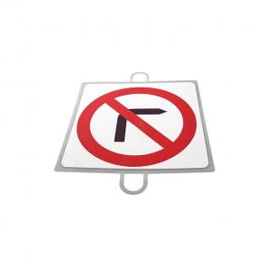 AND TREND Panel de señalizacion trafico de prohibicion Giro Dcha