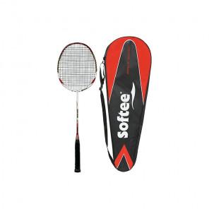 Raqueta badminton softee 10k rojo/blanco